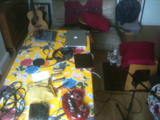 home studio table top setup
