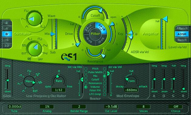 logic pro es1 synthesiser